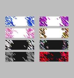 abstract diagonal rounded stripe pattern banner vector image
