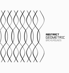abstract geometric background with waves monochro vector image