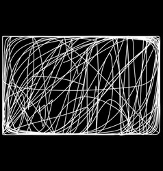 abstract monochrome background freehand scribble vector image