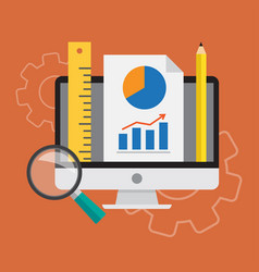 analysis business vector image