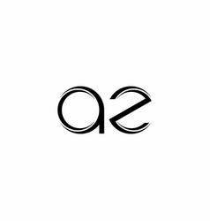 Az logo monogram with slice rounded modern design vector
