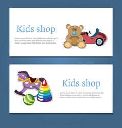 Baby shop logo two banner vector