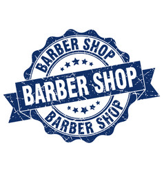 Barber shop stamp sign seal vector