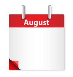 Blank august date vector