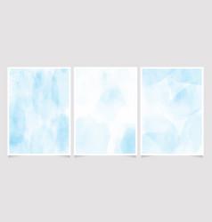 blue watercolor wash splash 5x7 invitation card vector image