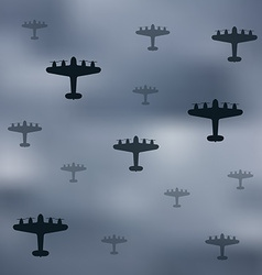 Bomber planes vector