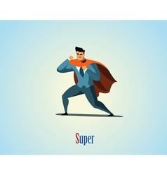 businessman superhero vector image
