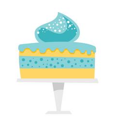 Cake on a cake stand cartoon vector