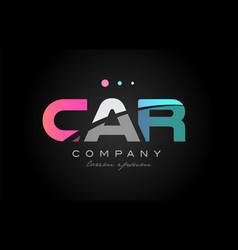 car c a r three letter logo icon design vector image vector image