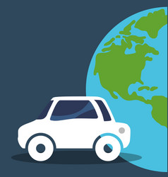 Car vehicle world global environment vector