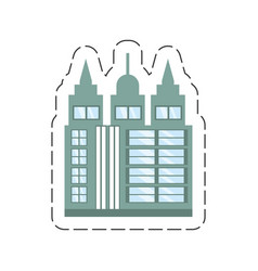 cartoon building skyscraper icon vector image