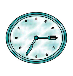Chronometer flat scribble vector