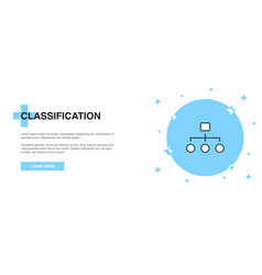 classification icon banner outline template vector image