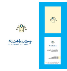 coat creative logo and business card vertical vector image