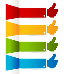 Colorful Thumbs Up Banners vector image