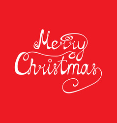 congratulation of merry christmas on a red vector image