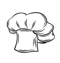 cook hat outline vector image