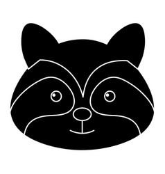 Cute and tender raccoon vector