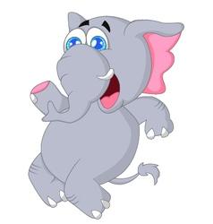 Cute baby elephant dancing vector image