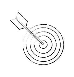 Dartboard target symbol vector
