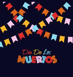 dia de los muertos banner color style vector image