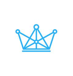 Digital king logo icon design vector
