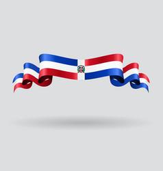 Dominican republic wavy flag vector