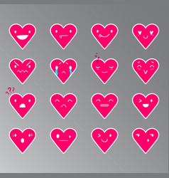Emoticons heart color 19 vector