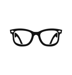 Eyeglasses icon in simple style vector image