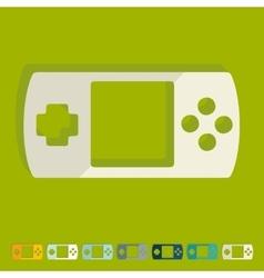 Flat design joystick vector image