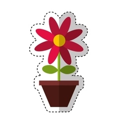Flower decorative isolated icon vector
