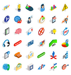 General director icons set isometric style vector