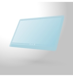 glass tablet computer vector image