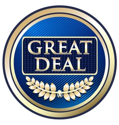 Great Deal Blue Label vector