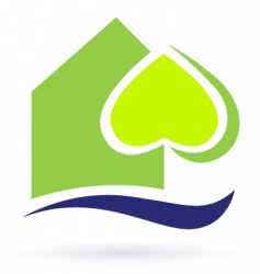 green nature eco house icon vector image