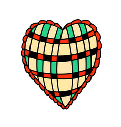 heart doodle icon sticker vector image