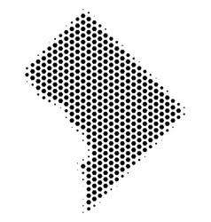 Hexagon washington dc map vector