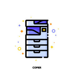 icon of copier or multifunction printer scanner vector image