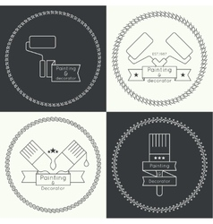 Icon set with brus vector