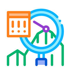 Infographic peak research icon thin line vector