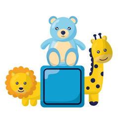kids toys design vector image