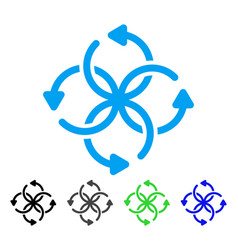 knot rotation flat icon vector image
