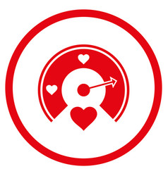 love gauge rounded icon vector image