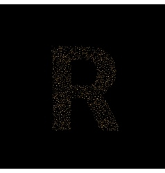 Magic R letter vector image