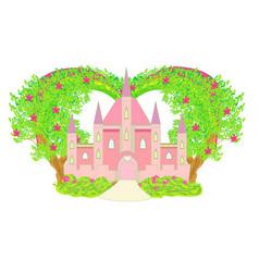 Magical fairy tale land - decorative card with a vector