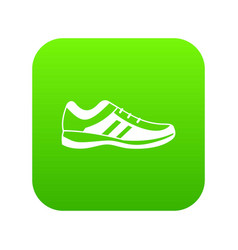 men sneakers icon digital green vector image