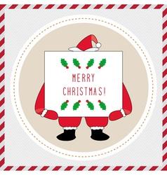Merry Christmas greeting card42 vector image