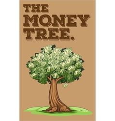 Money growing on a tree vector