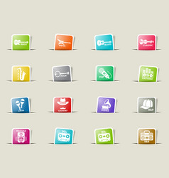 musical genre web icons vector image