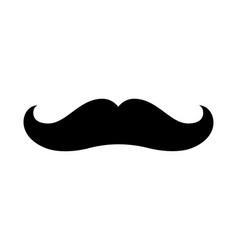 mustache icon moustache vintage shape symbol vector image
